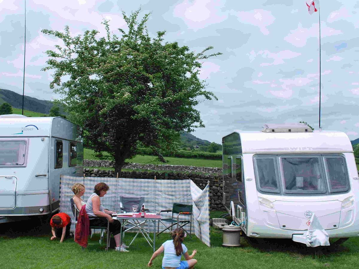 High Laning Camping Site, Dent